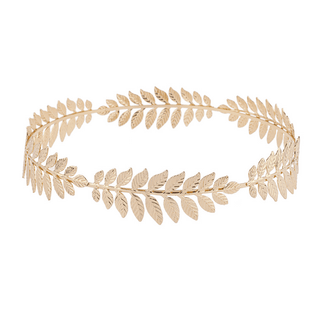 Lux Accessories Gold Tone Grecian Game of Thrones Leaf Goddess Flower Crown