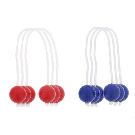 Ladder Toss Replacement Bola Strands – 3 Blue 3 Red Ball (6 - Ladder Ball Dimensions