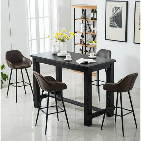 union rustic shoemaker 5 piece pub table set. Black Bedroom Furniture Sets. Home Design Ideas