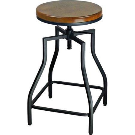 Williston Forge Wisbech Adjustable Height Bar Stool Set