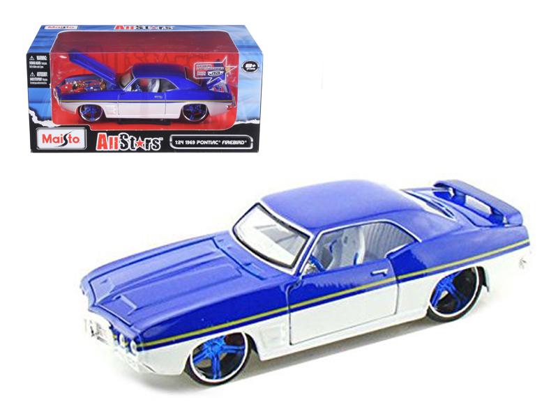 "1969 Pontiac Firebird Blue   White All Stars"" 1 24 Diecast Model Car by Maisto"" by Maisto"