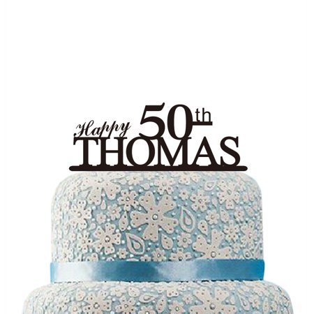 Buythrow Happy 50th Birthday Cake Topper Personalized
