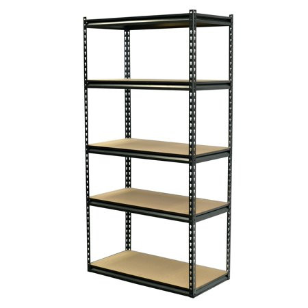 Storage Max Modular Shelving Boltless, 36 x 18 x 72, 5 Shelves with Particle - Particle Board Sizes