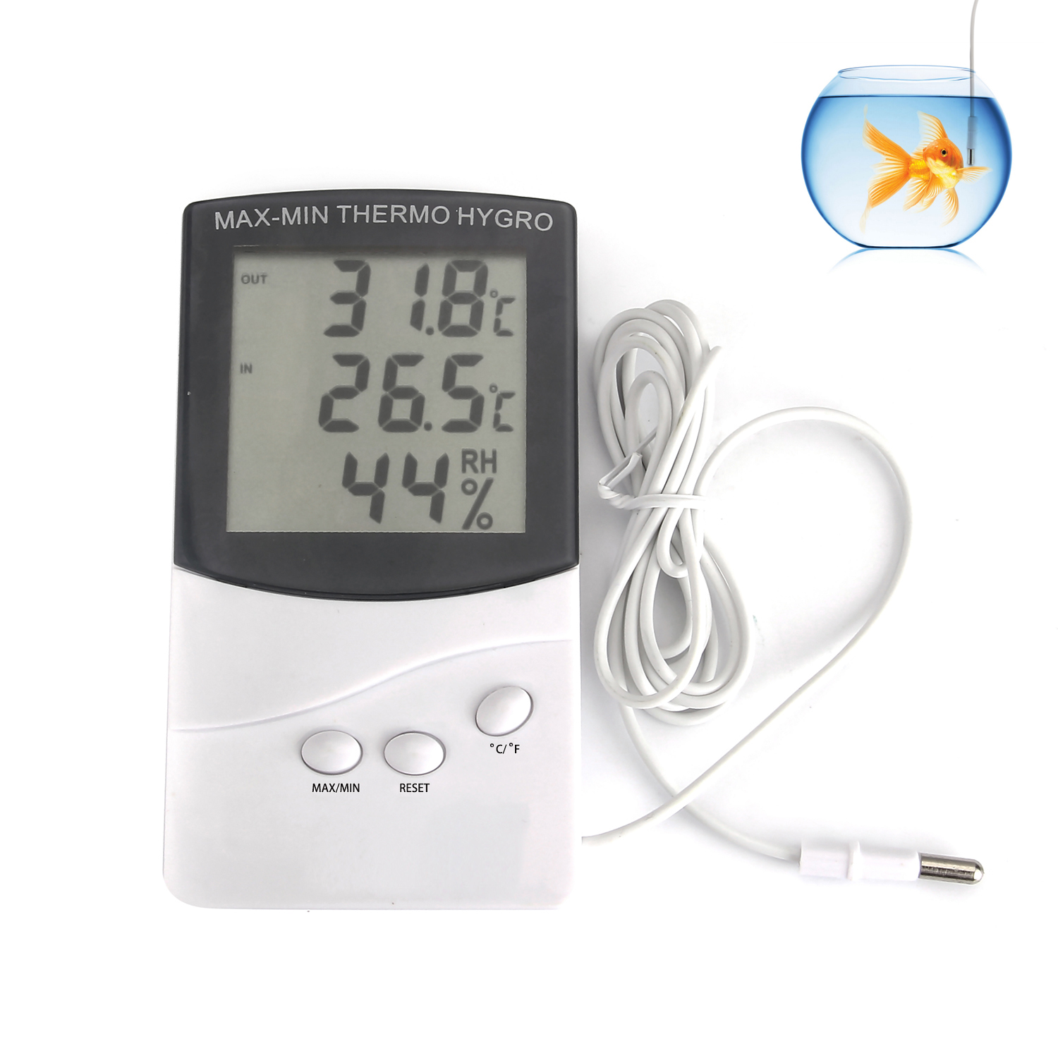 Digital LCD Indoor/Outdoor Thermometer Hygrometer Meter Temperature Humidity