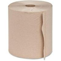 "Genuine Joe Embossed Hardwound Roll Towels - 7.90"" x 800 ft - Natural - Absorbent, Chlorine-free - For Restroom - 6 / Ca"