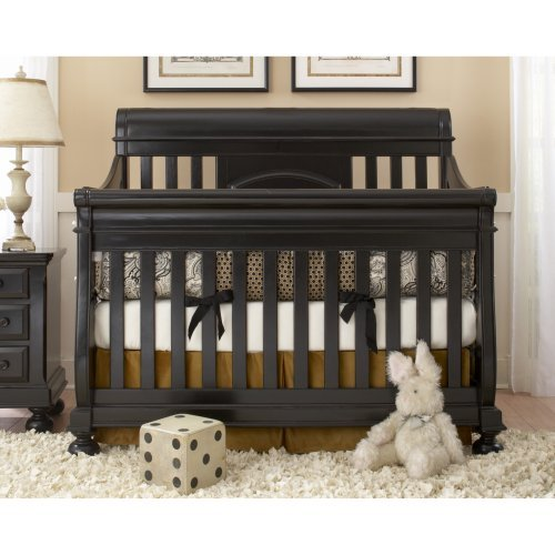 Creations Baby Summer Evening 4 in 1 Convertible Sleigh Crib - Antique Black