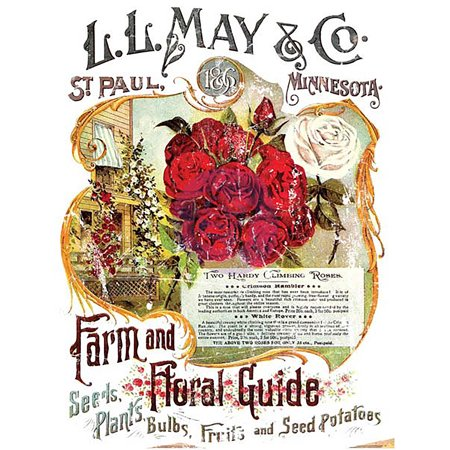 Rhinestuds Iron Ons (Iron Orchid Designs Decor Transfer Rub-Ons-LL May II Farm & Floral Guide, 24