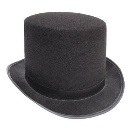 Mens Short Black Top Hat Cap Topper Steampunk Victorian Charles Dickens (Cheap Black Top Hats)