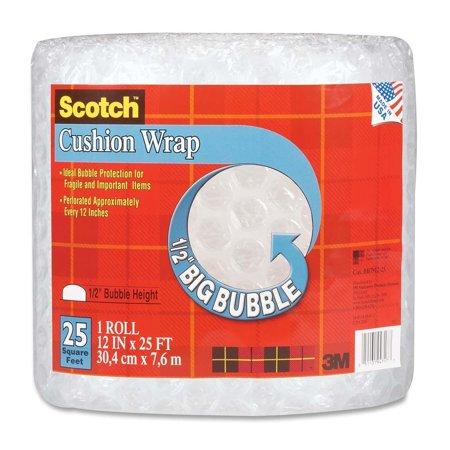 - Scotch Cushion Wrap, 12 Inches x 25 Feet, 1/2-Inch Bubble (BB7912-25)