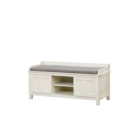 Riverbay Furniture Entryway Storage Bench in White ()