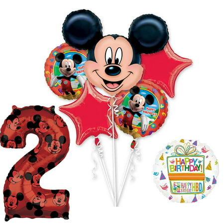 Mickey Mouse 1st Birthday Party Decorations (Mickey Mouse Party Supplies 2nd Birthday Clubhouse Balloon Bouquet)