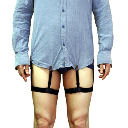 Mens Dress Shirt Stays Adjustable Garter Belts Non-slip Clamps