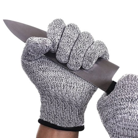 Reversible Cut Resistant Gloves (Protective Cut Resistant Gloves Level 5 Certified Safety Meat Cut Wood Carving)