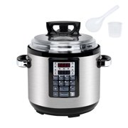 8-IN-1 6QT Multi-Use Programmable Pressure Cooker Electric Pressure Pot with 16 Smart Programs, Slow Cooker, Rice Cooker, Steamer, Sauté, Yogurt Maker and Warmer