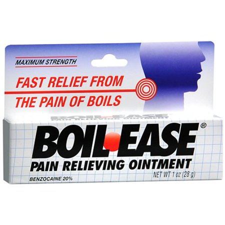 Boil Ease Ointment Maximum Strength Fast Relief From The Pain Of Boils - 1 Oz, 6 (Ichthammol Ointment Boils)