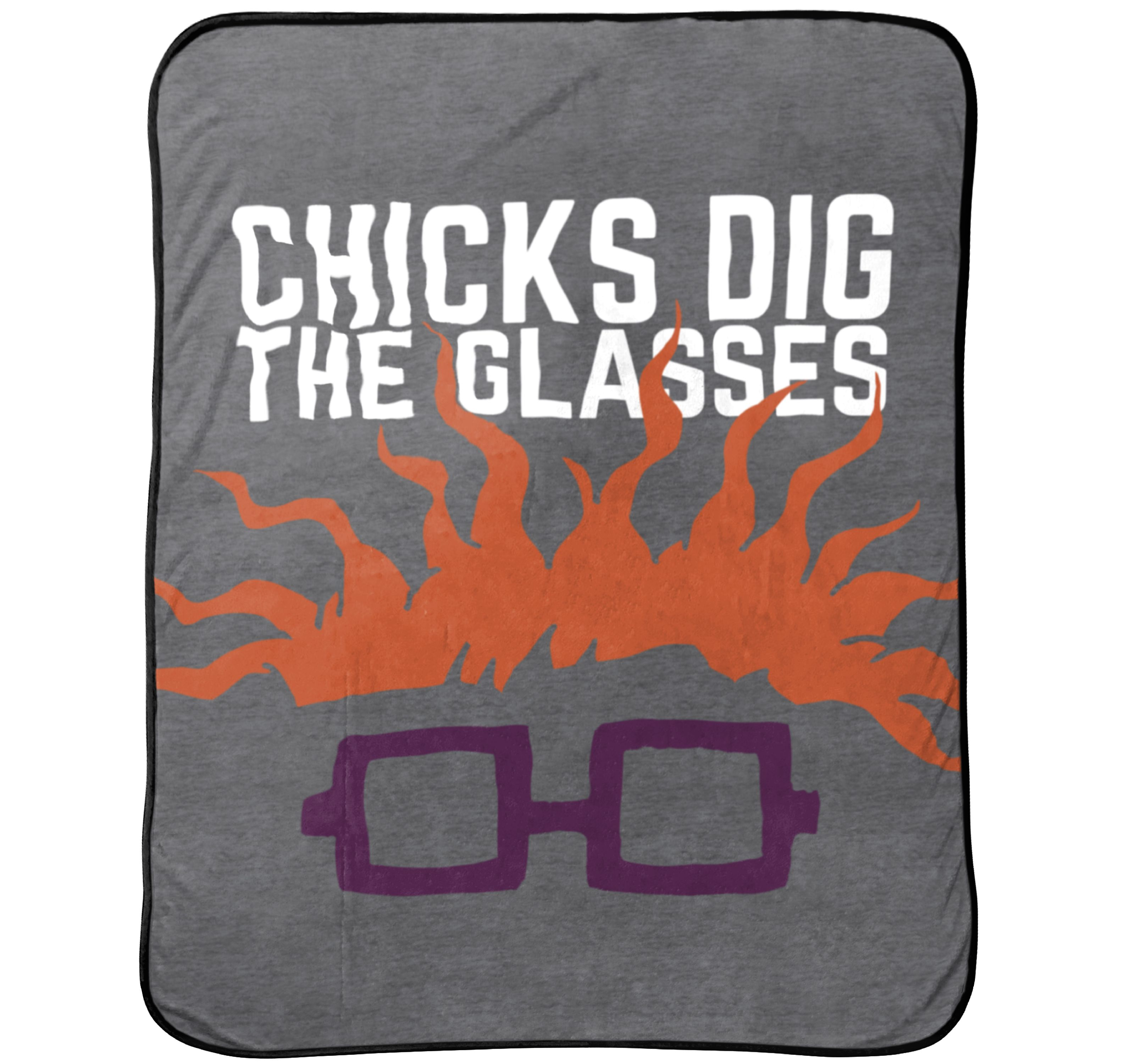 "Nickelodeon ""Chicks Dig Glasses"" Throw"