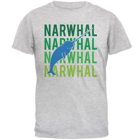 Narwhal Stacked Repeat Mens T