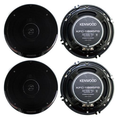 "4)  Kenwood KFC-1695PS 6.5"" 640 Watt 3-Way Car Audio Coaxial Speakers Stereo"