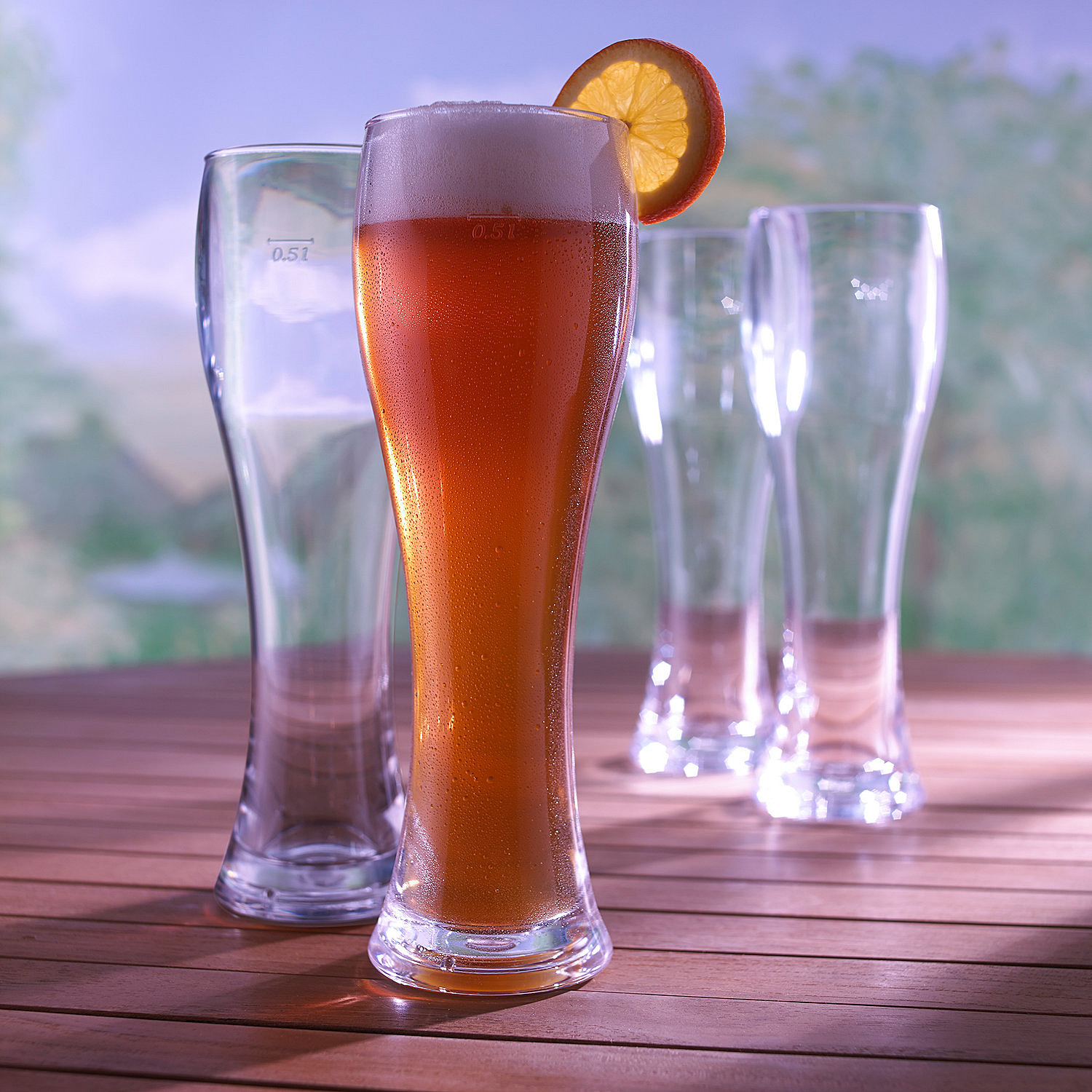 Wine Enthusiast Indoor/Outdoor Pilsner Glasses - Set of 4