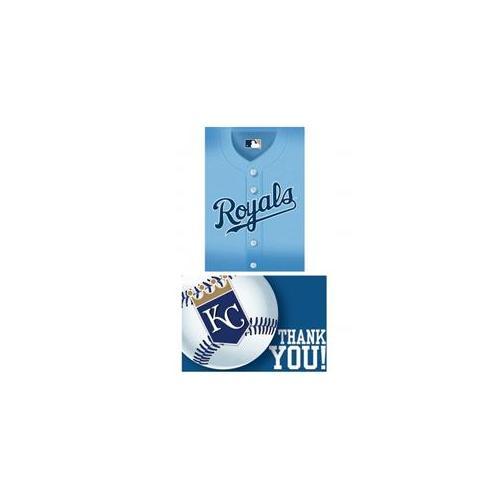Amscan 203848 Kansas City Royals Baseball - Invite & Thank-You Combo