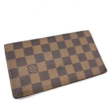 Louis Vuitton Damier Ebene Long Bifold Flap Brazza Checkbook Wallet 231500