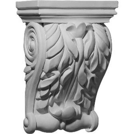 8.75 in. W x 4.62 in. D x 11 in. H Architectural Forest Leaf Corbel - image 1 de 1