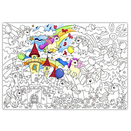 O Kroshka Big Giant Colouring Poster Colorings For Children Unicorns Baby Coloring Pages For Kids And Adults Color Me Posters For Family 38 5 X 26 7 In Walmart Canada