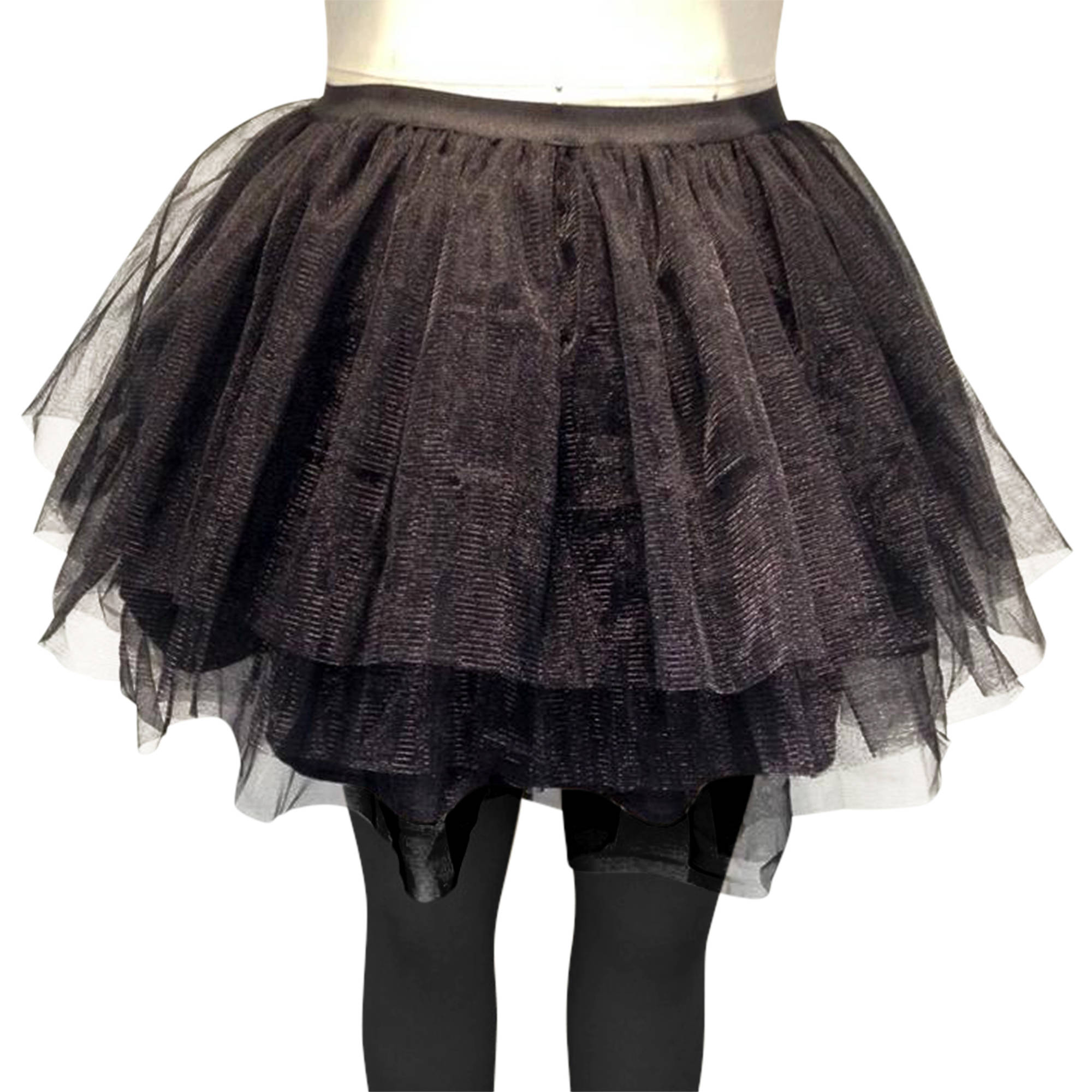 Layered Black Petticoat Women's Adult Halloween Costume