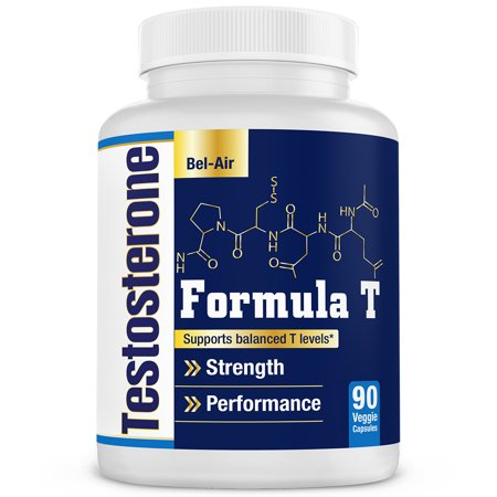 Bel-Air Formula T - Natural testosterone booster - Supports muscle growth, boosts stamina & libido with increased