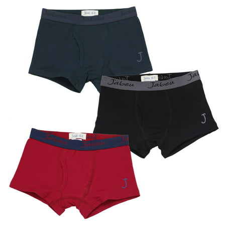 Jabeu Boys Boxer Briefs - Cotton Underwear For kids, Toddler and Teens - 3 Pack Assorted Colors - Assorted-1 - 6-7 (Weight:50-56 Waist: 22-23)