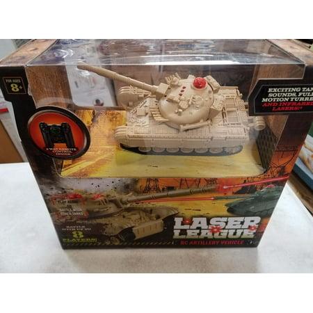 Laser league RC Artillery Vehicle. Green Tank 852.9075.4287 ...