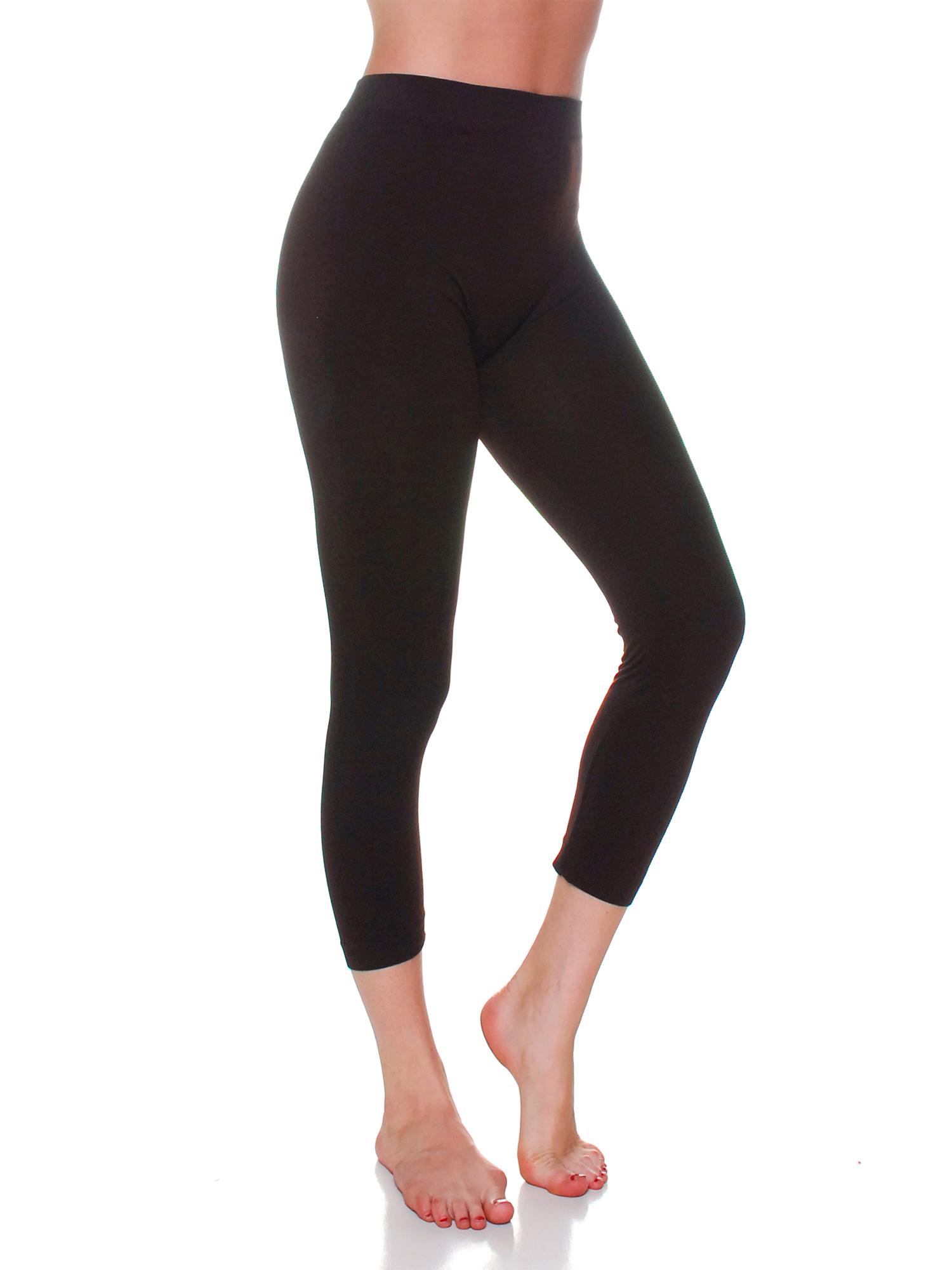Essential Basic Women's Active  Athletic Capri Seamless Legging - Plus Size