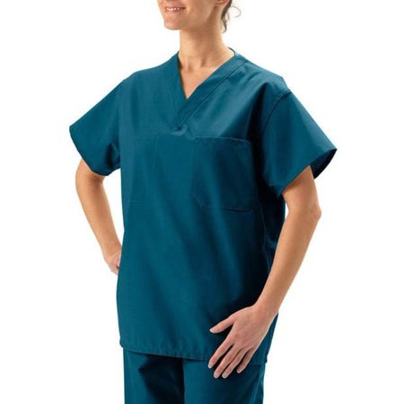 Medline  Unisex Reversible Caribbean Blue Scrub Top](Halloween Scrubs For Men)