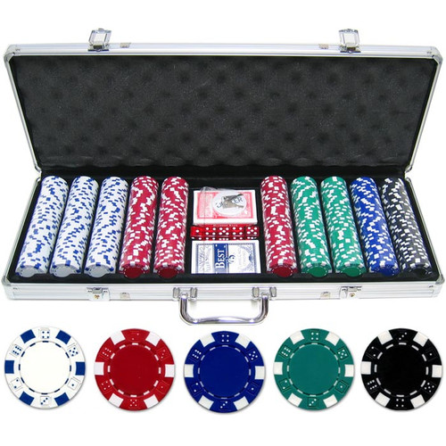JP Commerce 500 Piece Dice Poker Chip Set by JP Commerce
