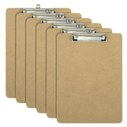 Officemate OIC Letter Size Wood Clipboards, Low Profile Clip, 6/Pack (83806)