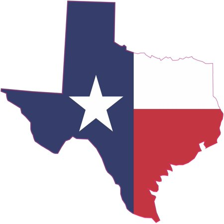 7in x 7in Die Cut Texas State Flag Bumper Sticker Vinyl Window Decal