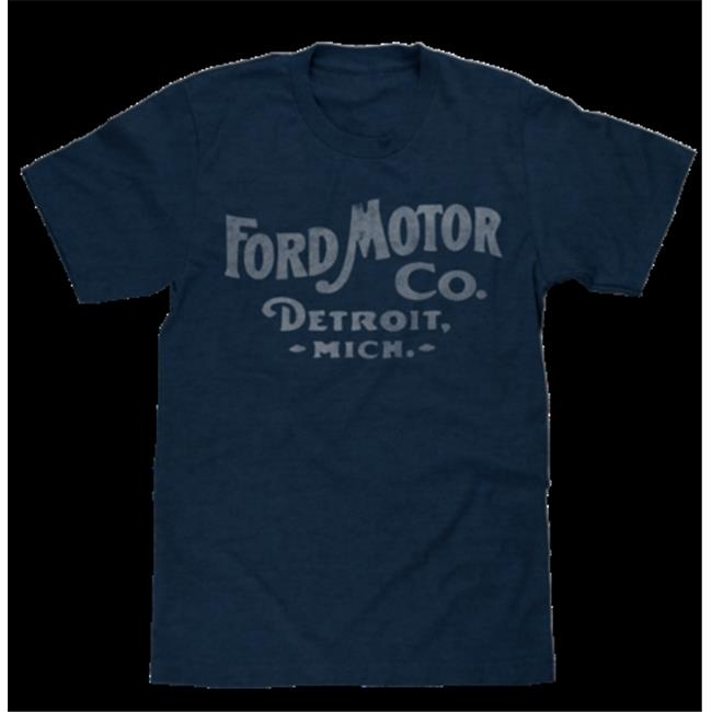 tee luv 26639-xl ford motor co. detroit michigan mens t-shirt, poly cotton blend, classic look - extra large
