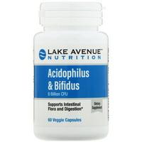 Lake Ave  Nutrition  Acidophilus   Bifidus  8 Billion CFU  60 Veggie Capsules
