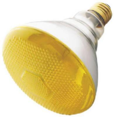 100BR38/Bug 100W 120V Yellow Bug Flood Specialty Light Bulb 2PK