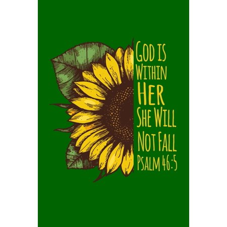 "God Is Within Her She Will Not Fall : 6""x9"" Portable Christian Notebook with Christian Quote: Inspirational Gifts for Religious Men & Women (Christian Notebooks)"