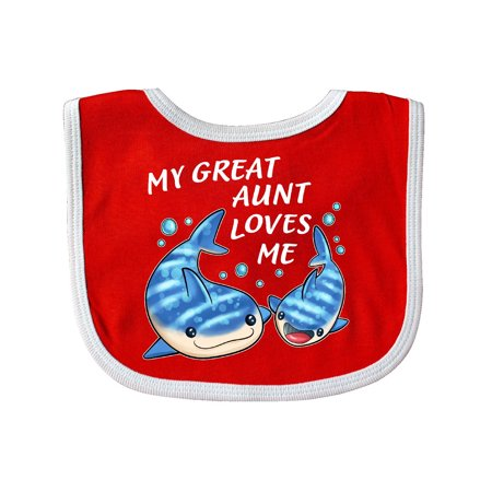 My Great Aunt Loves Me- whale shark Baby Bib