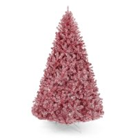 Best Choice Products 6ft Artificial Tinsel Christmas Tree Festive Holiday Decoration w/ 1,477 Tips, Stand - Pink