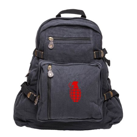Hand Grenade Army Sport Heavyweight Canvas Backpack