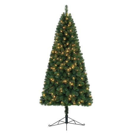 Home Heritage 7 Ft Pre-Lit Artificial Half Christmas Tree with Folding Stand  - image 5 of 7