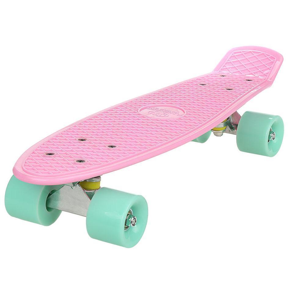 "Mini Cruiser Skateboard 22"" Complete Deck Skate Board Cruiser 4 wheel Board Outdoor for Teens Kids by"