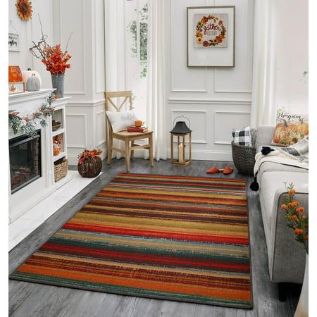 Mohawk Home Avenue Stripe Indoor/Outdoor Nylon Rug, 5' x 8', (Mohawk Home Avenue Stripe Indoor Outdoor Nylon Rug)