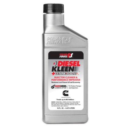 Power Service Diesel Kleen+Cetane Boost - Cleans Injectors - Increases Power - Improves MPG -, 16 oz bottle, sold by