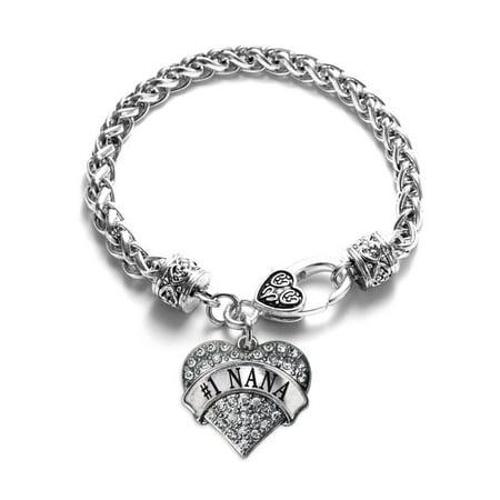 Crystal Star Charm Bracelet - #1 Nana Pave Heart Charm Bracelet