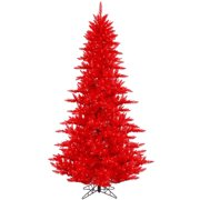 vickerman 3 red fir artificial christmas tree with 100 red led lights - Red Artificial Christmas Tree