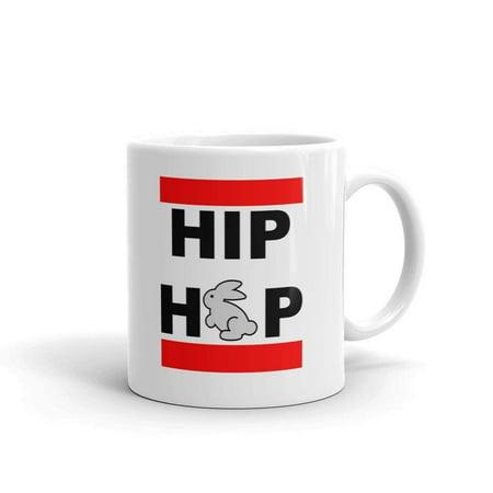 Hip Hop Bunny Funny Novelty Humor 11oz White Ceramic Glass Coffee Tea Mug Cup